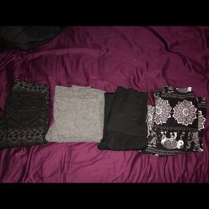 Bundle of 4 pairs of leggings